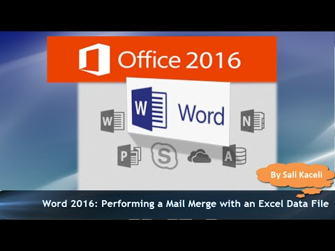 word 2016 mail merge tutorial with an excel data file works in word