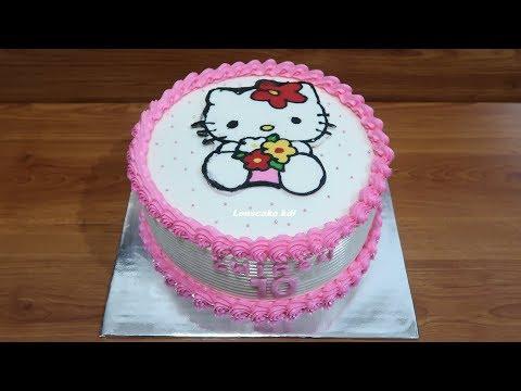 Dekorasi Kue Ulang Tahun Simple Tart Hello Kitty Cake Youtube