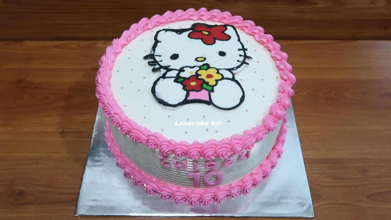 Dekorasi Kue Ulang Tahun Simple Tart Hello Kitty Cake