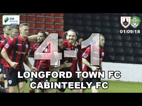 Longford Town FC v Cabinteely FC Highlights 01/09/18
