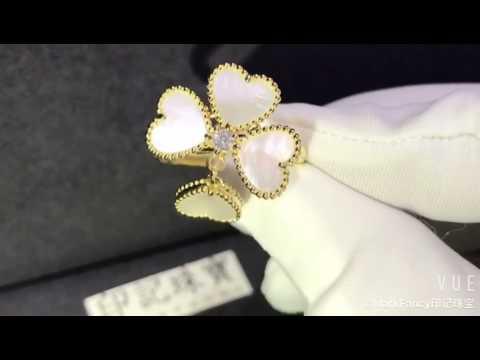 Van Cleef & Arpels   Sweet Alhambra effeuillage ring