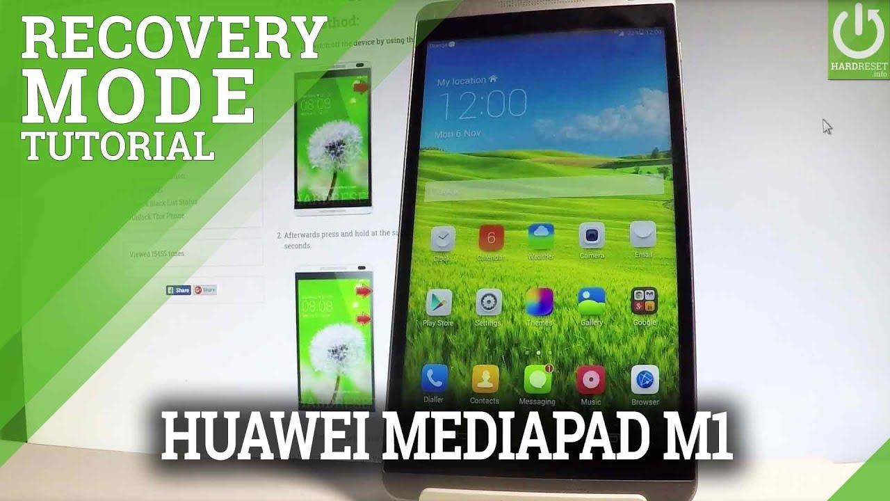 HUAWEI MediaPad M1 RECOVERY MODE / MediaPad Recovery Menu