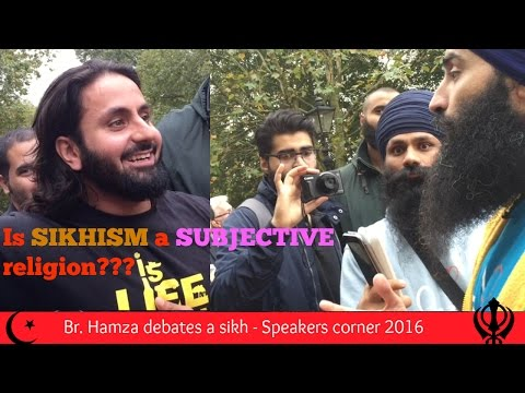 Is SIKHISM a SUBJECTIVE Religion? || With Br. Hamza Tzortzis || Speakers Corner