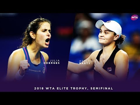 Julia Goerges vs. Ashleigh Barty | 2018 WTA Elite Trophy Semifinals | WTA Highlights
