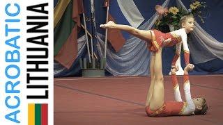 Спортивная Акробатика дети Acrobatic Gymnastics 2015 Visagino Sporto Centras