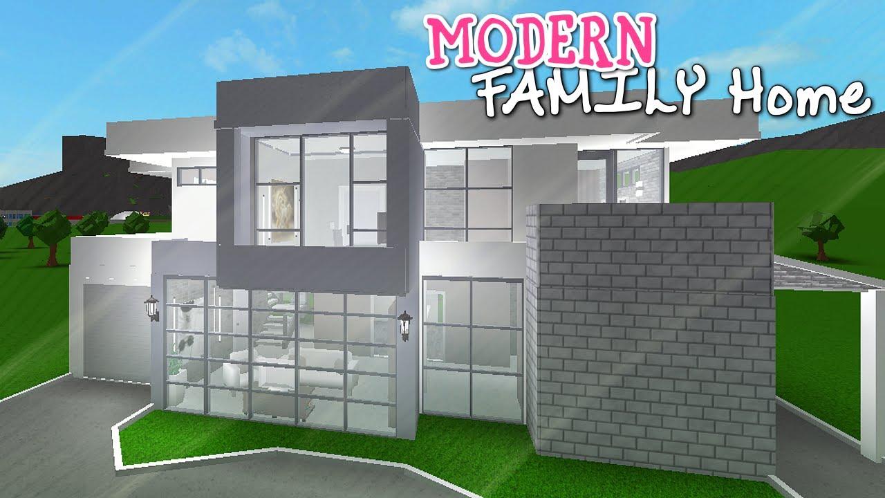 Bloxburg Modern Family Home 40k Cheap Easy Youtube