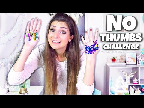 NO THUMBS CHALLENGE - Painting, Makeup, Slime, & More! - SoCraftastic