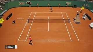 Simona Halep vs Elise Mertens - AO Internationale de Tennis PS4 Gameplay