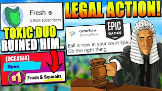 BANNED Pro Will SUE Fortnite?!? Lawyers Calling Out Epic! Fresh LOSES FNCS Because of TOXIC DUO?