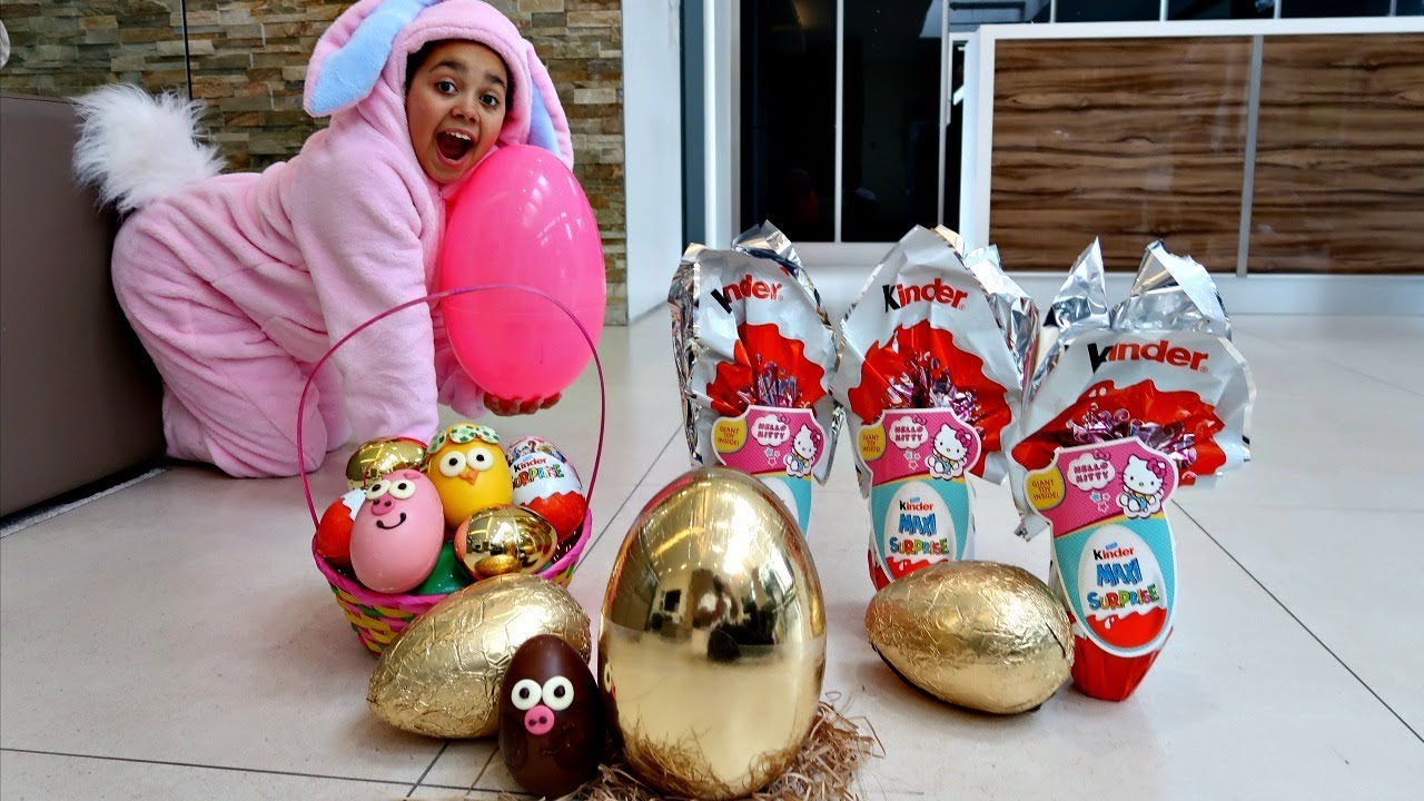 Golden Egg Easter Egg Hunt Toys Challenge For Kids