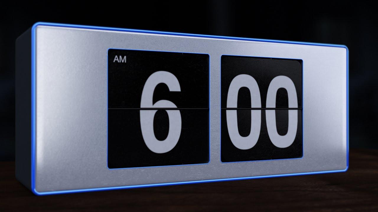 6 A.M. Flip Alarm Clock - YouTube