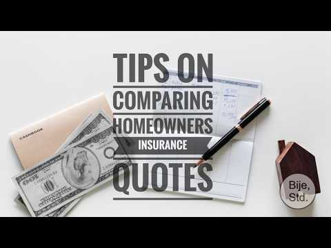 Tips on Comparing Homeowners Insurance Quotes
