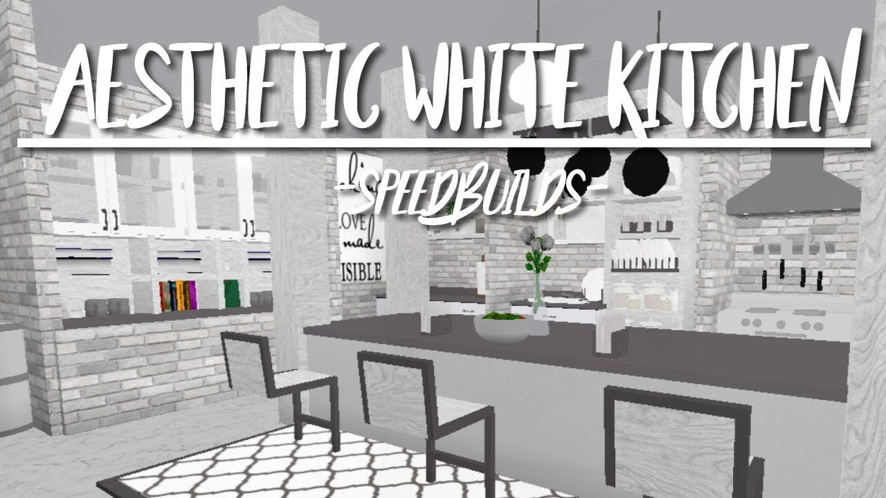 Aesthetic White Kitchen 10k | Bloxburg - YouTube