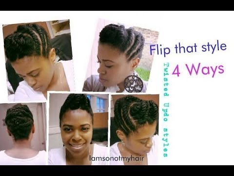 Tutorial Easy Flat Twist 4 Updo Hairstyles On Natural Hair Youtube