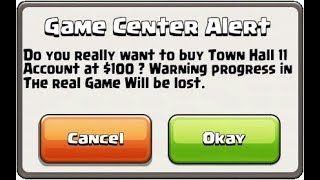 supercell Selling -clash of clan - Town hall 11 accounts at $100|HTNR series