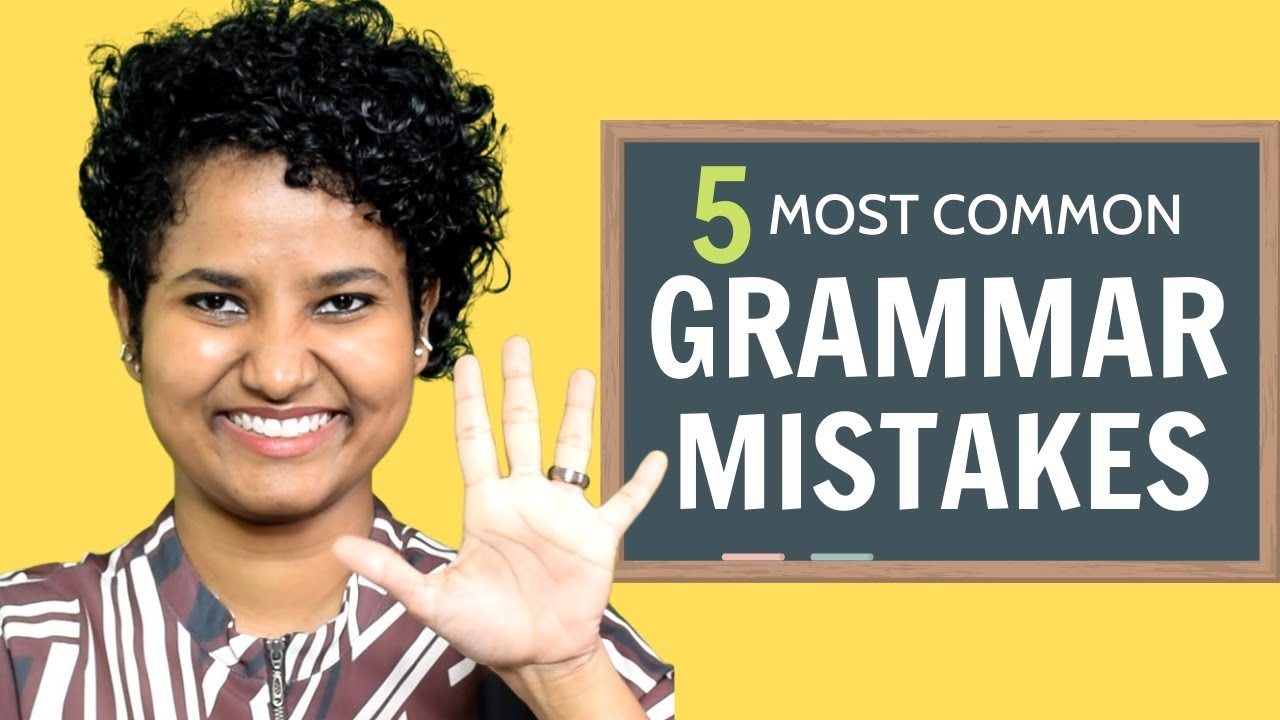 5 MOST Common ENGLISH Grammar MISTAKES + Solutions!