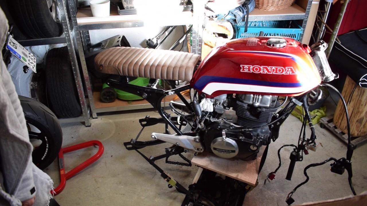 Honda CB400N Cafe Racer Projekt Umbau - Tuffside Sitzbank