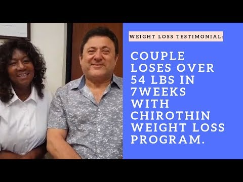 Couple loses over 54 pounds in 7weeks at the iChoose Wellness Center in San Mateo, CA.