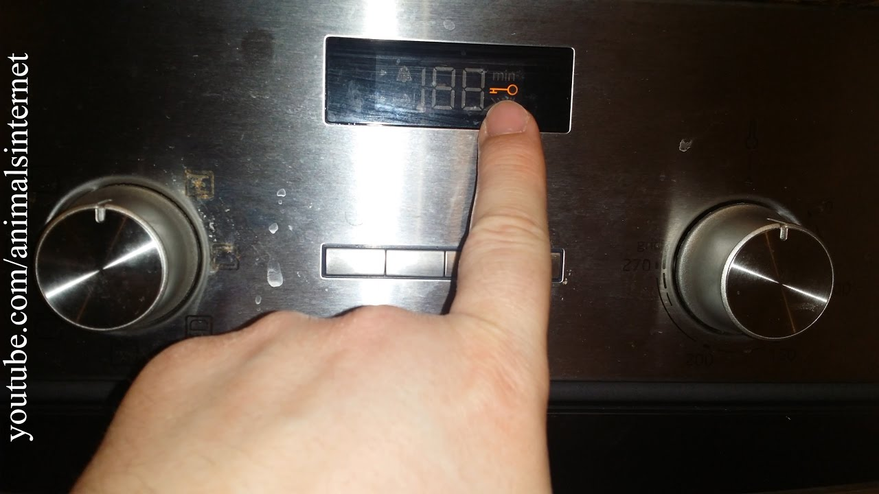 How to lock/unlock a Balay (Bosch, Siemens) electric oven 3HB505XM step by  step  4K UHD 2160p