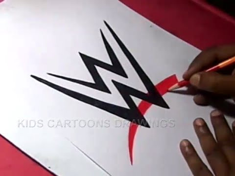 How to Draw WWE Logo Drawing