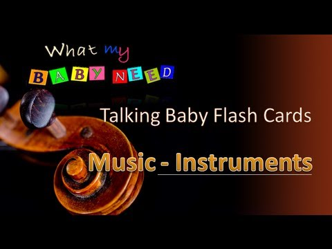 Talking Flashcards - Music Instruments