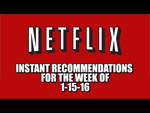 Netflix Instant Recommendations January 15 2016