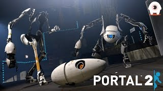 Completing Portal 2!! BananaBread is TOXIC!! - GiantWaffle