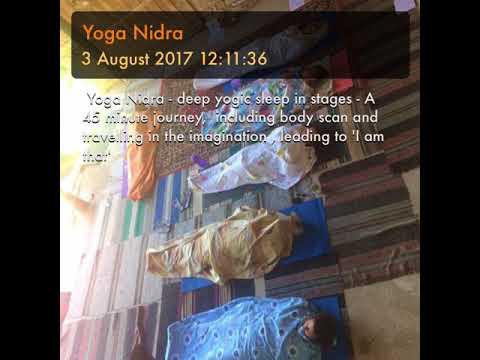 Yoga Nidra -Magical - better than sleep. Use if exhausted and need deep boost