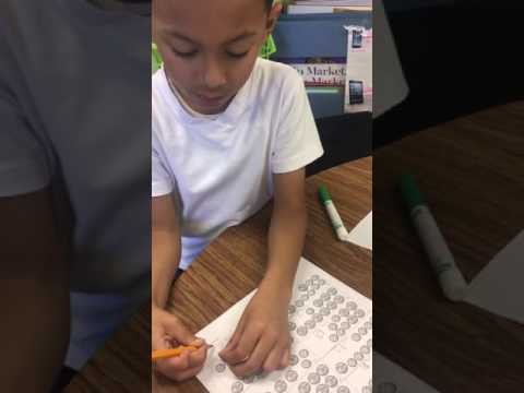 Checking Work on Coin Counting Worksheet