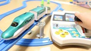 プラレール 僕も運転!北海道新幹線はやぶさ です シャーシに他の車体を...