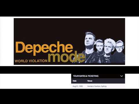 depeche mode CLEAN sydney 1990