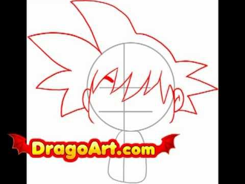 how to draw chibi goku