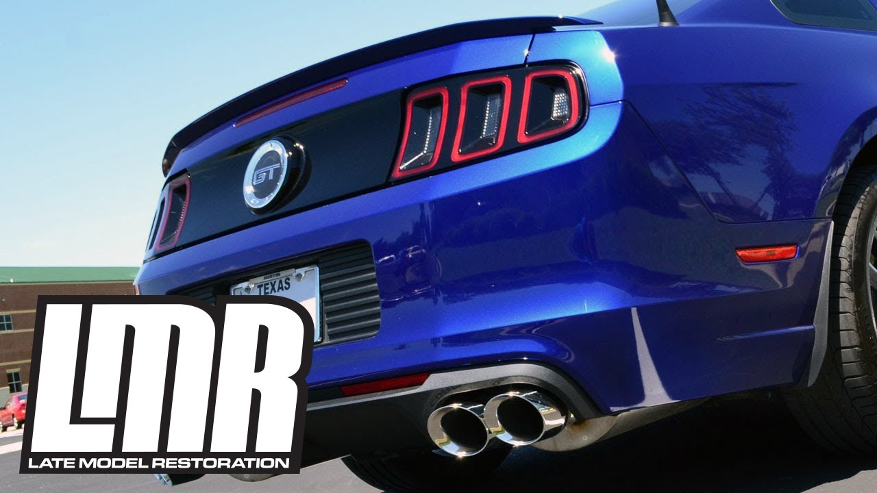 2013 14 shelby gt500 exhaust corsa sport axle back on mustang gt