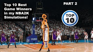 Top 10 Game Winners in my Simulations PART 2!!!
