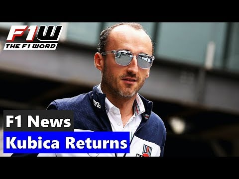F1 News: Robert Kubica Returns For 2019
