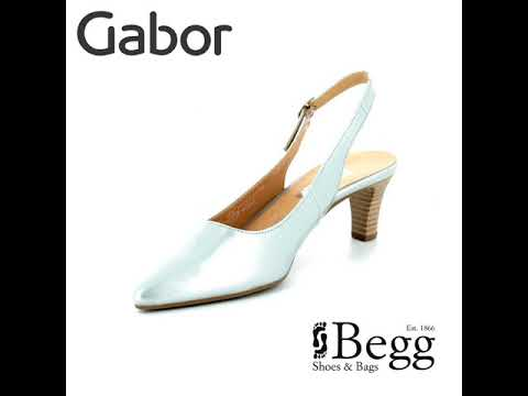 18b7f78fdd8 Gabor Hume 2 81.550.96 Silver high-heeled shoes - YouTube
