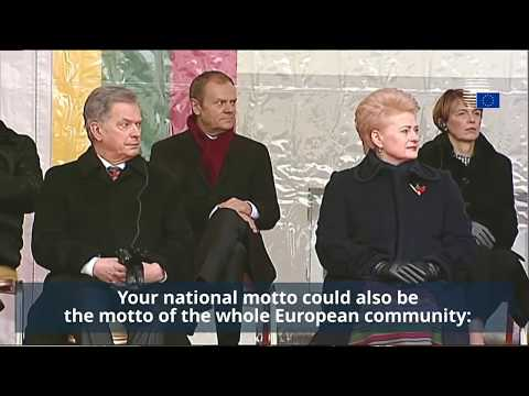 President Tusk celebrates 100 years of Lithuanian independence