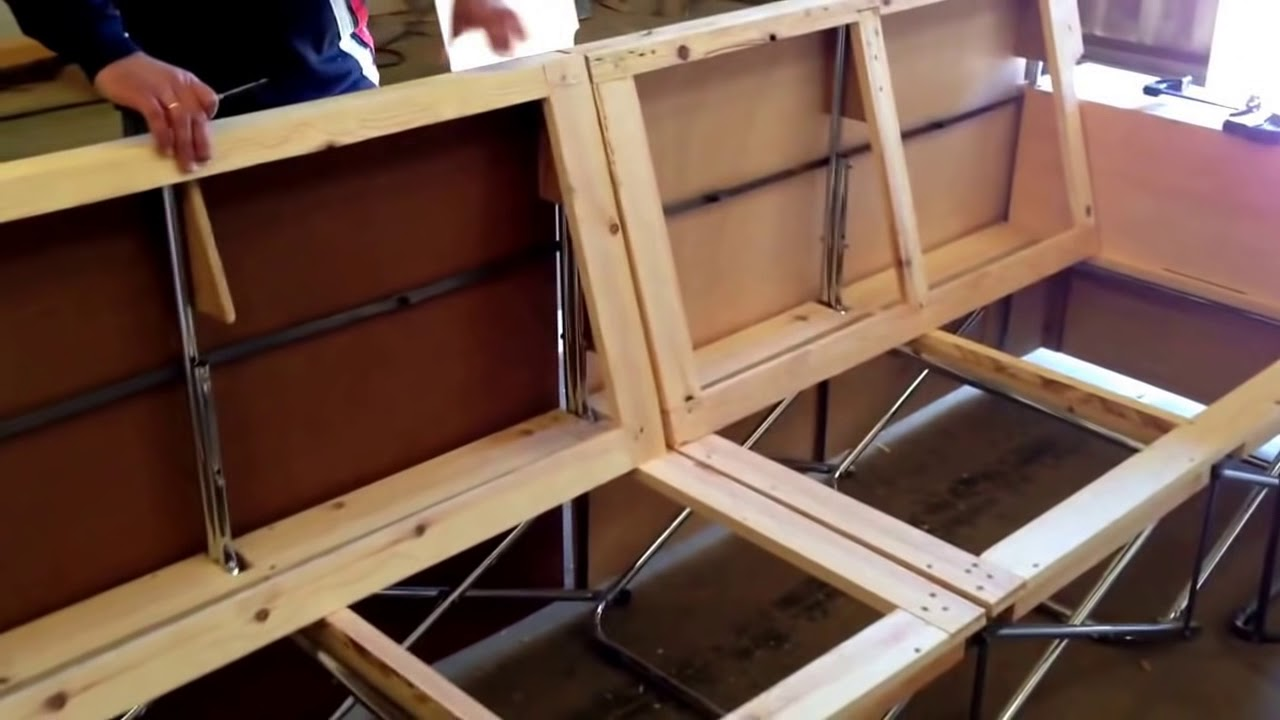 Dise ando la estructura y bastidor de un sof sofold de 4 for Sillon cama de 2 plazas