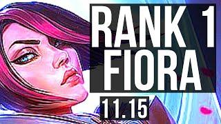 FIORA vs GANGPLANK (TOP)   Rank 1 Fiora, Rank 7, 8 solo kills, 66% winrate   TR Challenger   v11.15