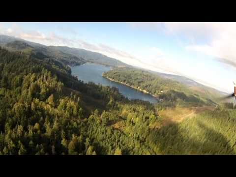 Flight over Western Washington and Landing at Copalis Beach Airstrip