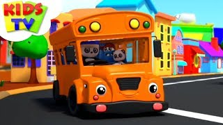 Wheels on the Bus | Baby Bao Panda Cartoons | Kindergarten Nursery Rhymes For Children - Kids TV