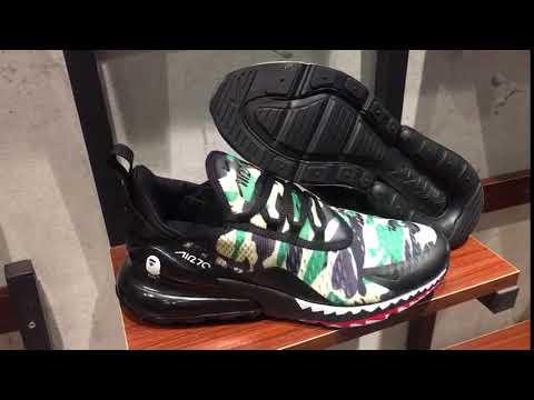 quality design d6d92 76119 Bape x Nike air Max 270 Green