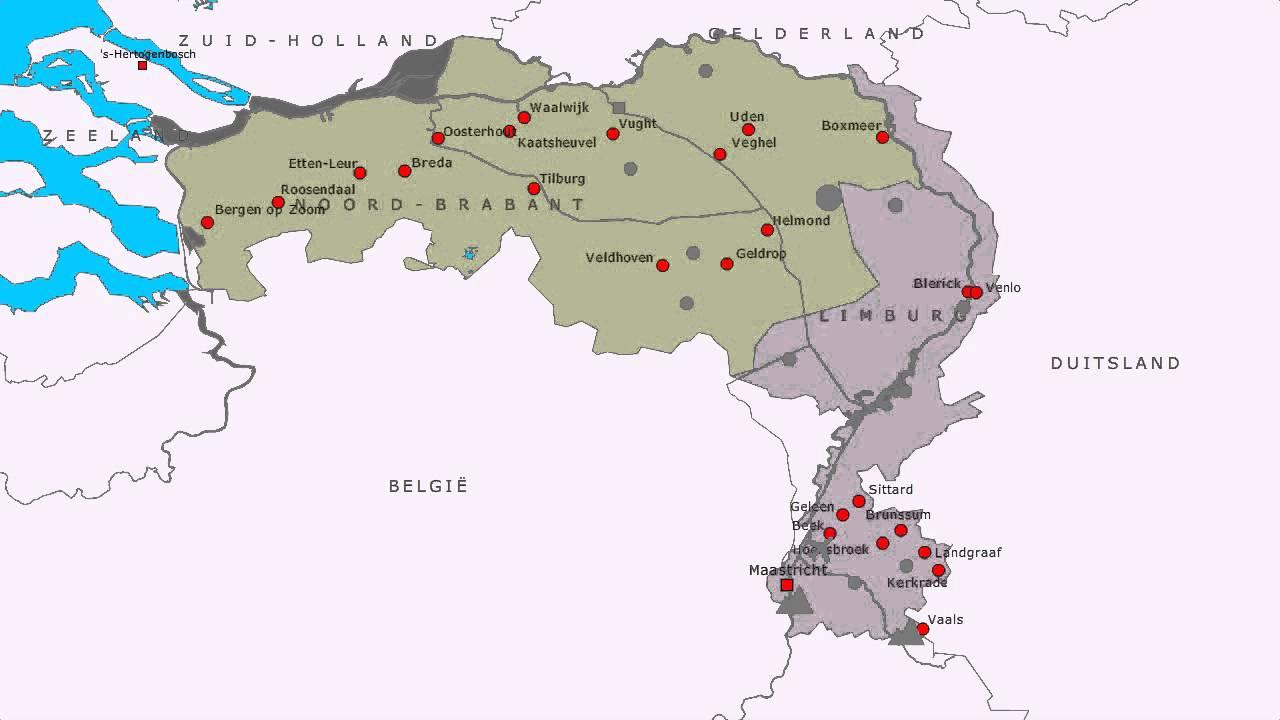 Topografie Noord Brabant En Limburg Youtube