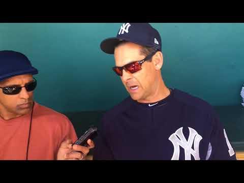 Yankees' Aaron Boone on Gary Sanchez's defense