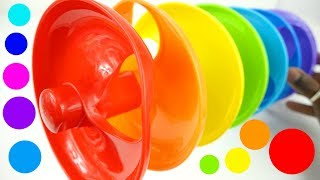 Twirly Whirly Rainbow Ramp Learn Colors Kids and Toddlers Video