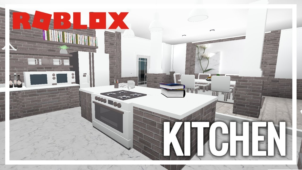 Roblox welcome to bloxburg kitchen youtube for Kitchen designs bloxburg