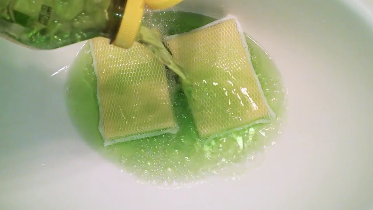Full Bottle Of Green Pine Sol Ajax Sudsy Sponges Asmr Cleaning