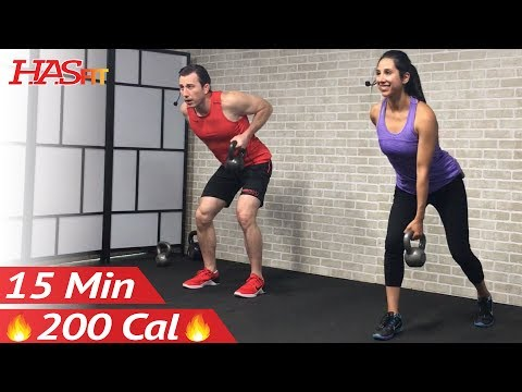 15 Min Kettlebell Workout for Beginners Video (Fat Loss)
