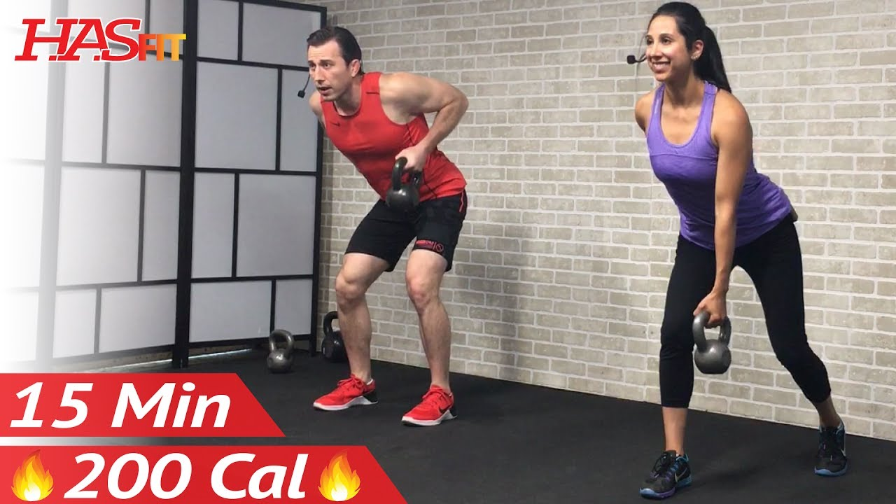 15 Min Beginner Kettlebell Workout For Fat Loss