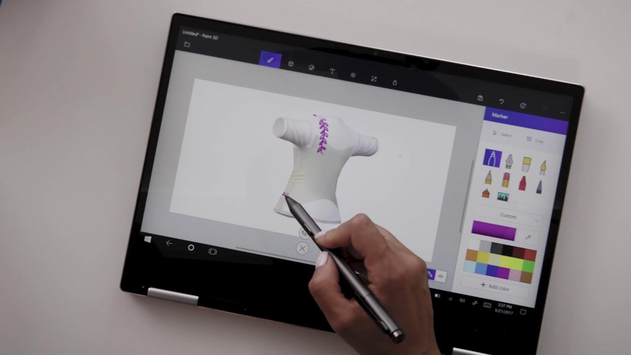 Create A Custom T-shirt with Amy Tangerine & Lenovo Yoga 720